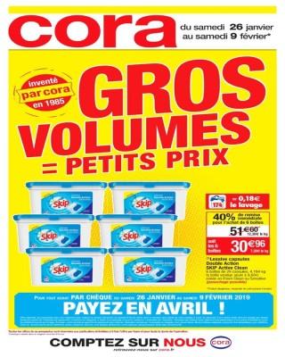 Gros volumes = petits prix - invente par cora en 1985