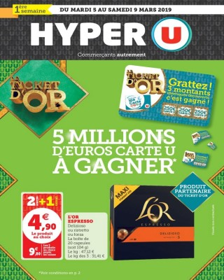 Hyper U Le ticket d or