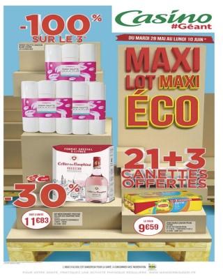Maxi lot maxi eco 21+3 canettes offertes