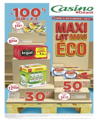Maxi lot maxi eco -100% sur le 3