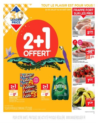 Leader Price 2+1 offert