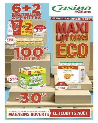 Maxi lot maxi eco 6+2 bouteilles offertes