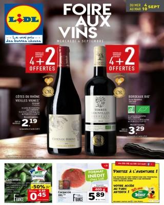 Foire aux vins mercredi 4 septembre