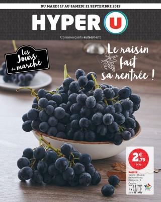 Hyper U le raisin fait sa rentree