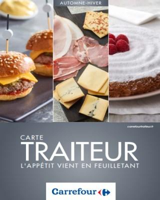 Catalogue Carrefour carte traiteur l'appétit vient en feuilletant