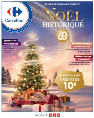 Catalogue Carrefour noel historique