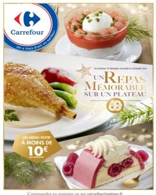Catalogue Carrrefour un repas mémorable sur un plateau