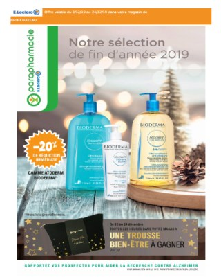 Catalogue E.Leclerc notre selection de fin dannée 2019 - E.Leclerc