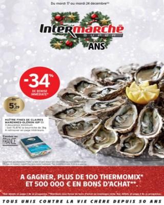 Catalogue Intermarche huître fines de claires Marennes Oléron IGP
