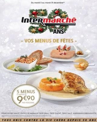 Catalogue Intermarche vos menus de fêtes