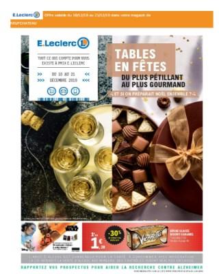catalogue E.leclerc tables en fetes